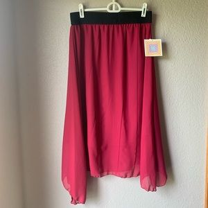 LuLaRoe Chiffon Lola Bright Pink and Black NWT